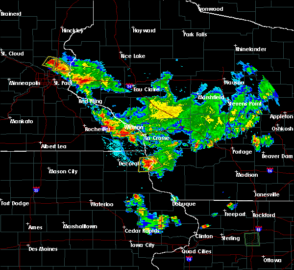 Radar Image for Severe Thunderstorms near Eastman, WI at 6/29/2015 6:32 PM CDT