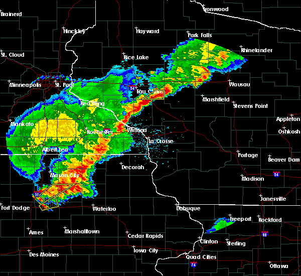 Radar Image for Severe Thunderstorms near Augusta, WI at 6/21/2020 8:09 PM CDT