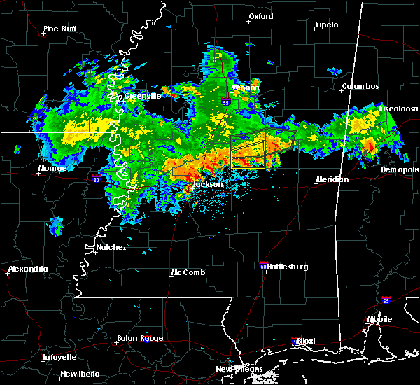 Radar Image for Severe Thunderstorms near Flowood, MS at 6/21/2020 8:10 PM CDT