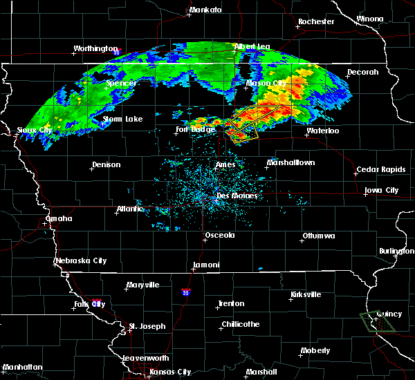 Radar Image for Severe Thunderstorms near Bradford, IA at 6/21/2020 8:12 PM CDT
