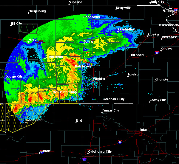 Radar Image for Severe Thunderstorms near Mayfield, KS at 6/21/2020 8:12 PM CDT