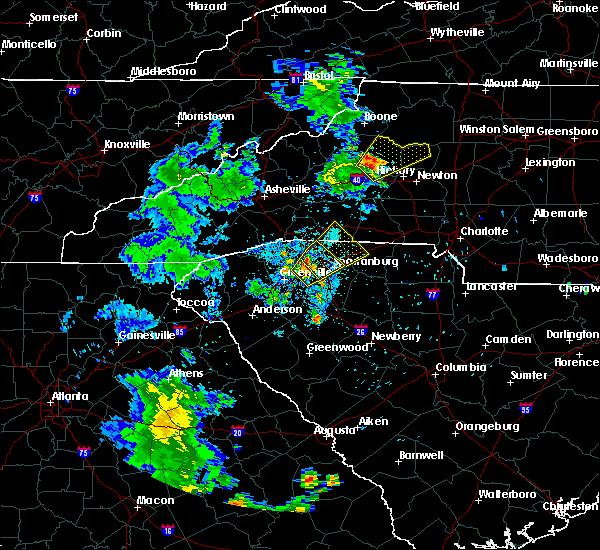 Radar Image for Severe Thunderstorms near Reidville, SC at 6/21/2020 9:25 PM EDT