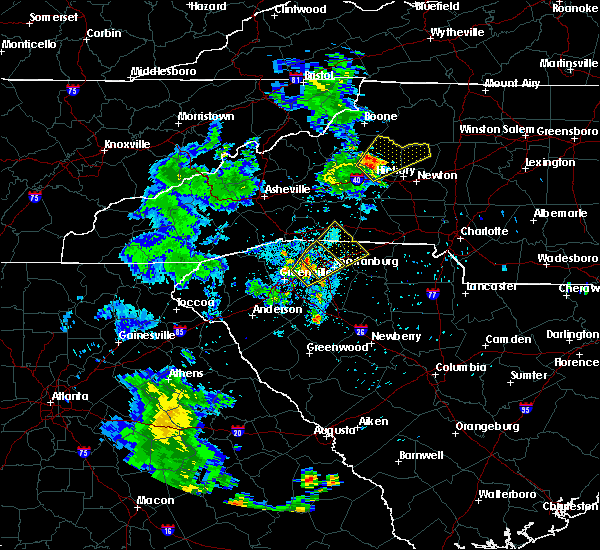 Radar Image for Severe Thunderstorms near Saxon, SC at 6/21/2020 9:25 PM EDT
