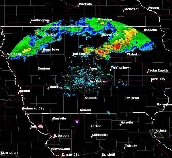 Radar Image for Severe Thunderstorms near Allison, IA at 6/21/2020 8:33 PM CDT
