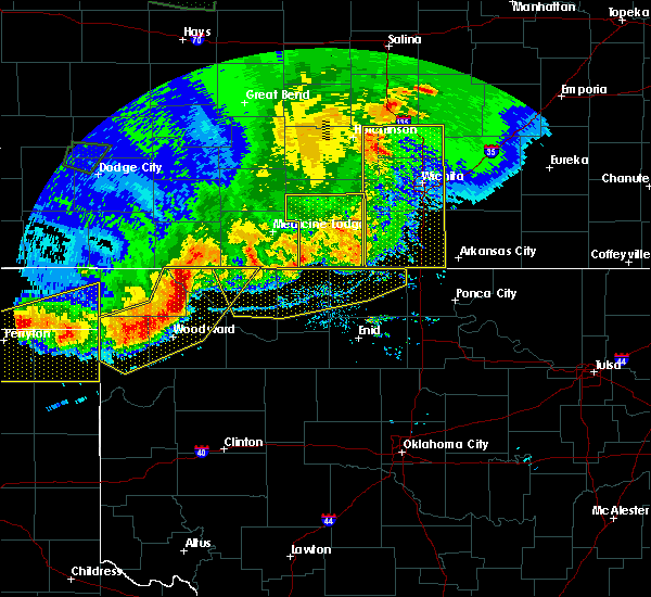 Radar Image for Severe Thunderstorms near Medford, OK at 6/21/2020 8:34 PM CDT