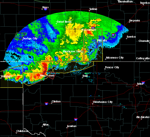 Radar Image for Severe Thunderstorms near Cleo Springs, OK at 6/21/2020 8:49 PM CDT