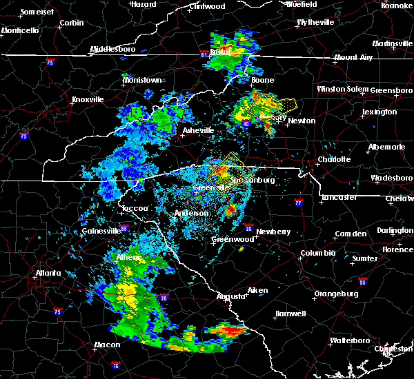 Radar Image for Severe Thunderstorms near Roebuck, SC at 6/21/2020 9:58 PM EDT