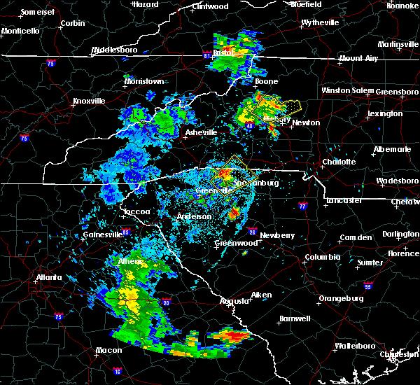 Radar Image for Severe Thunderstorms near Reidville, SC at 6/21/2020 9:58 PM EDT