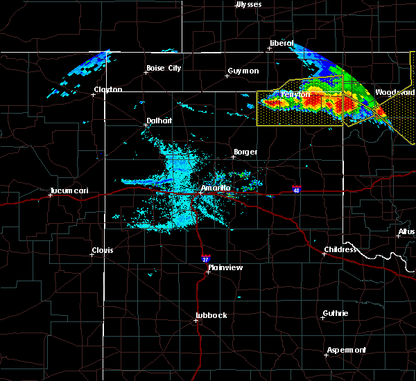 Radar Image for Severe Thunderstorms near Lipscomb, TX at 6/21/2020 9:12 PM CDT