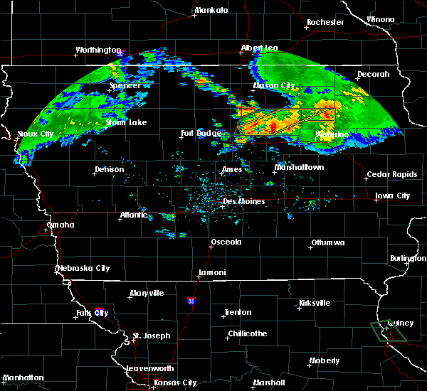 Radar Image for Severe Thunderstorms near Allison, IA at 6/21/2020 9:17 PM CDT