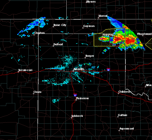 Radar Image for Severe Thunderstorms near Lipscomb, TX at 6/21/2020 9:27 PM CDT