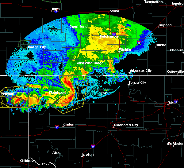 Radar Image for Severe Thunderstorms near Taloga, OK at 6/21/2020 9:33 PM CDT