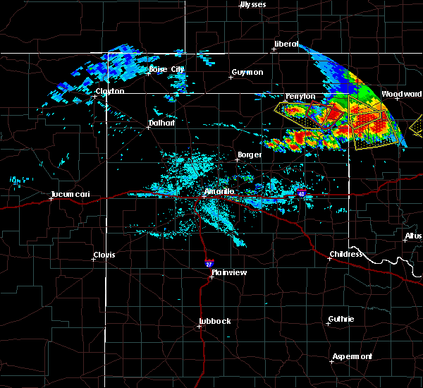 Radar Image for Severe Thunderstorms near Lipscomb, TX at 6/21/2020 9:40 PM CDT