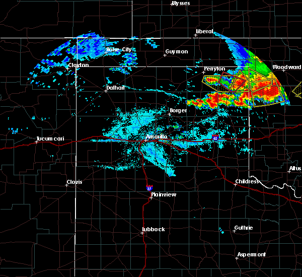 Radar Image for Severe Thunderstorms near Lipscomb, TX at 6/21/2020 9:44 PM CDT