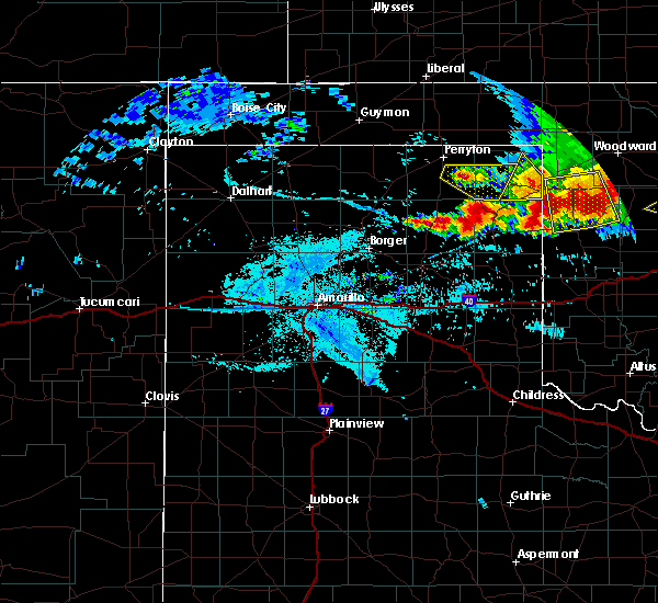 Radar Image for Severe Thunderstorms near Lipscomb, TX at 6/21/2020 9:53 PM CDT