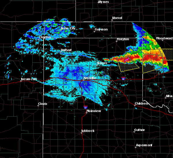 Radar Image for Severe Thunderstorms near Mobeetie, TX at 6/21/2020 10:17 PM CDT