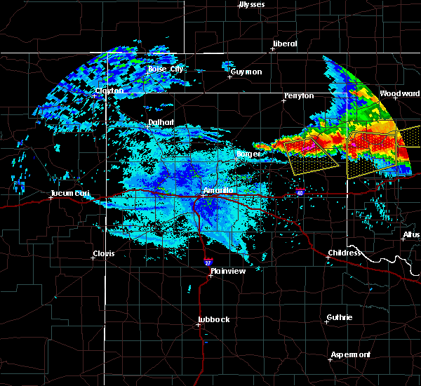 Radar Image for Severe Thunderstorms near Mobeetie, TX at 6/21/2020 10:23 PM CDT