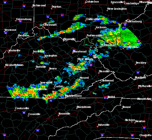 Radar Image for Severe Thunderstorms near Jackson, KY at 6/29/2015 7:41 PM EDT