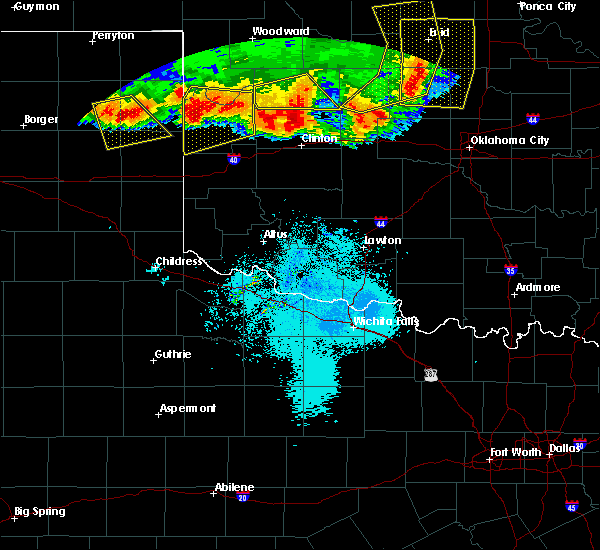 Radar Image for Severe Thunderstorms near Weatherford, OK at 6/21/2020 10:30 PM CDT