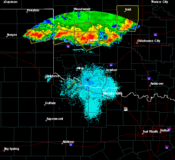 Radar Image for Severe Thunderstorms near Corn, OK at 6/21/2020 10:46 PM CDT
