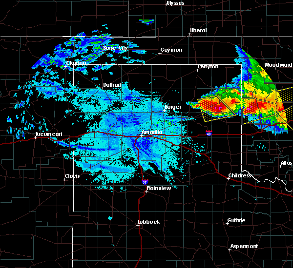 Radar Image for Severe Thunderstorms near Mobeetie, TX at 6/21/2020 10:46 PM CDT