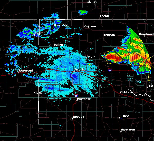 Radar Image for Severe Thunderstorms near Wheeler, TX at 6/21/2020 11:07 PM CDT