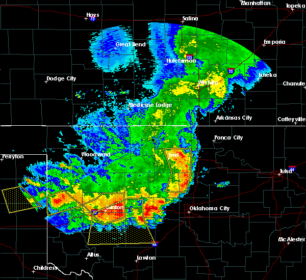 Radar Image for Severe Thunderstorms near Fairmont, OK at 6/21/2020 11:11 PM CDT
