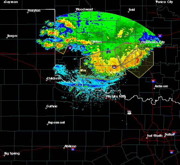 Radar Image for Severe Thunderstorms near Bray, OK at 6/22/2020 12:16 AM CDT