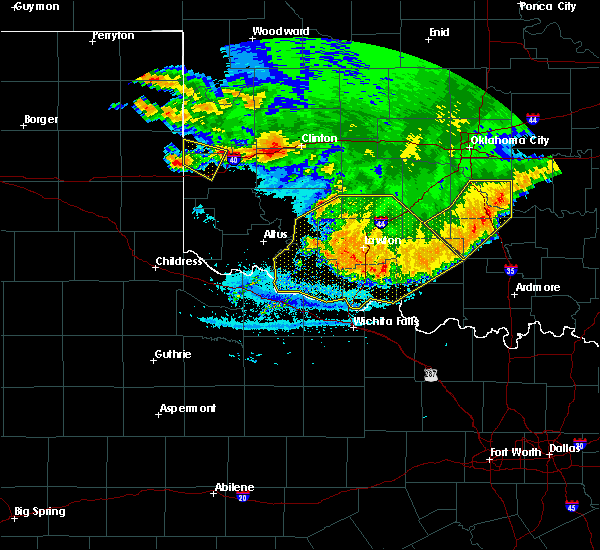 Radar Image for Severe Thunderstorms near Bray, OK at 6/22/2020 12:49 AM CDT