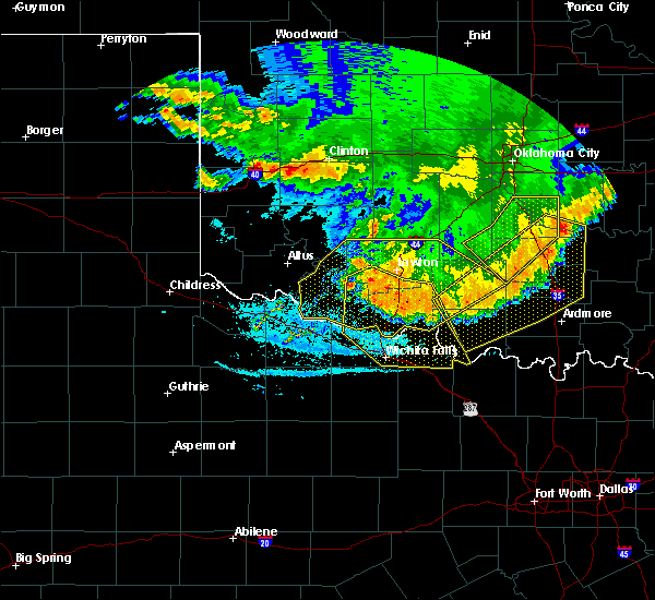 Radar Image for Severe Thunderstorms near Hastings, OK at 6/22/2020 1:00 AM CDT