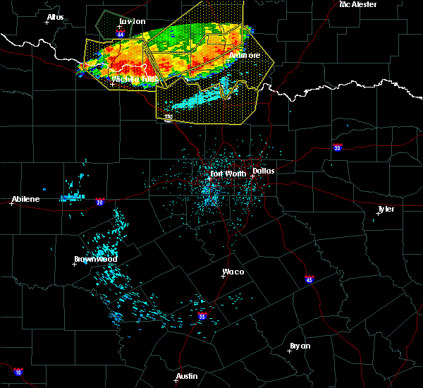 Radar Image for Severe Thunderstorms near Montague, TX at 6/22/2020 1:31 AM CDT