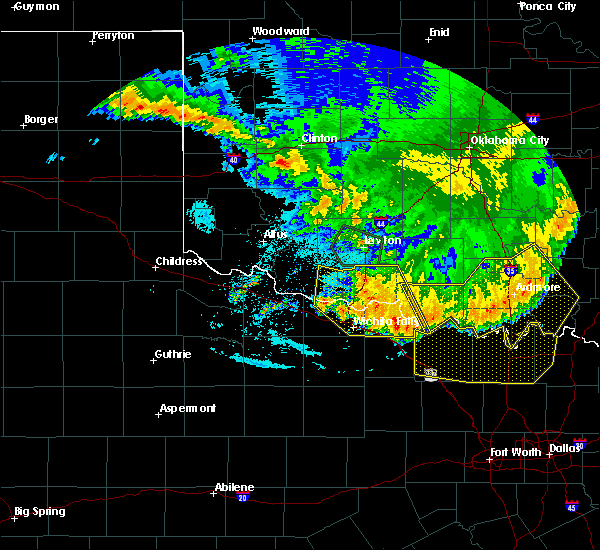 Radar Image for Severe Thunderstorms near Archer City, TX at 6/22/2020 1:44 AM CDT