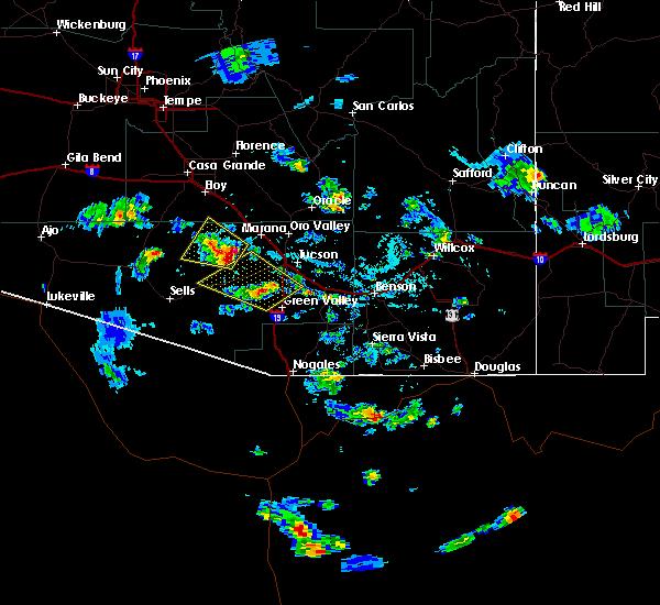 Radar Image for Severe Thunderstorms near Avra Valley, AZ at 6/29/2015 4:47 PM MST