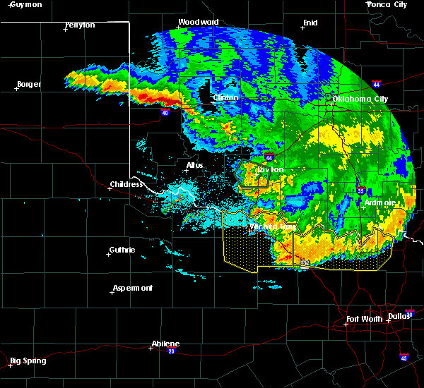 Radar Image for Severe Thunderstorms near Archer City, TX at 6/22/2020 2:25 AM CDT
