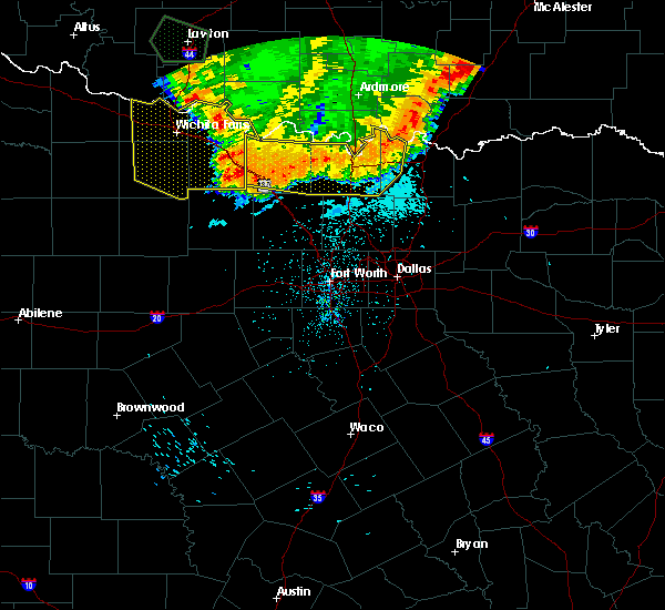 Radar Image for Severe Thunderstorms near Montague, TX at 6/22/2020 2:26 AM CDT