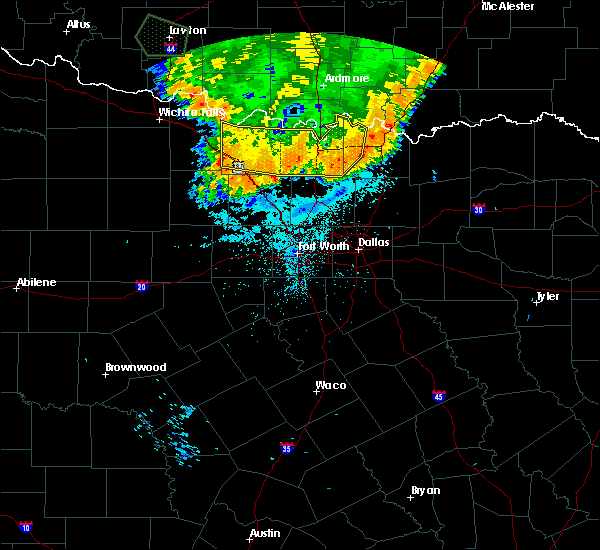 Radar Image for Severe Thunderstorms near Montague, TX at 6/22/2020 2:44 AM CDT