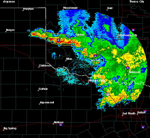 Radar Image for Severe Thunderstorms near Burns Flat, OK at 6/22/2020 3:02 AM CDT