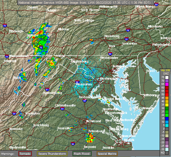 Radar Image for Severe Thunderstorms near Paw Paw, WV at 6/22/2020 1:42 PM EDT