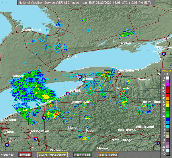 Radar Image for Severe Thunderstorms near Prattsburgh, NY at 6/22/2020 2:16 PM EDT