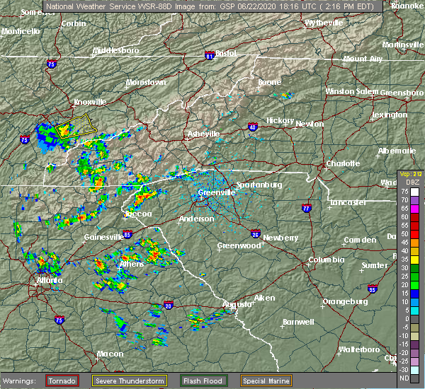 Radar Image for Severe Thunderstorms near Lake Secession, SC at 6/22/2020 2:23 PM EDT