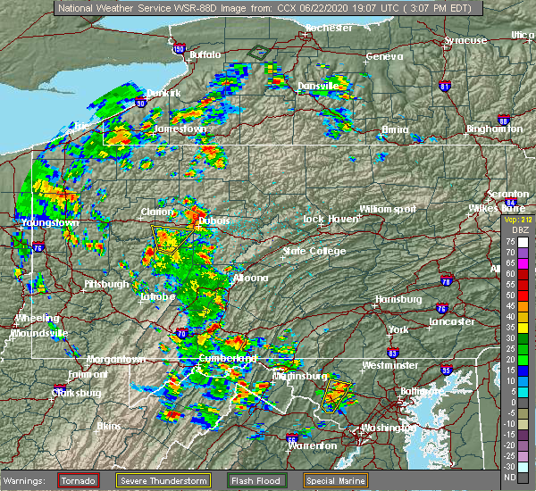 Radar Image for Severe Thunderstorms near Timblin, PA at 6/22/2020 3:10 PM EDT
