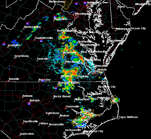 Radar Image for Severe Thunderstorms near Courtland, VA at 6/22/2020 3:16 PM EDT