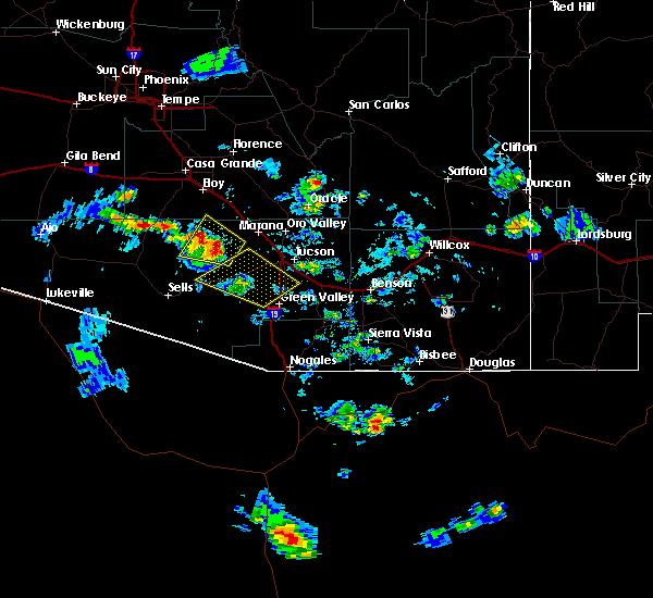 Radar Image for Severe Thunderstorms near Green Valley, AZ at 6/29/2015 4:57 PM MST