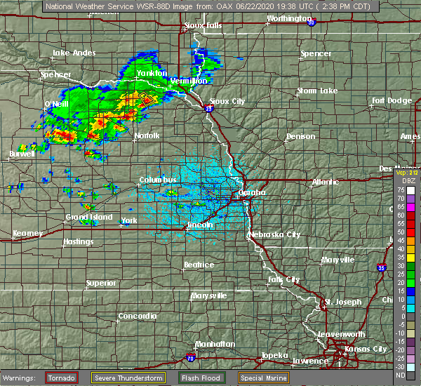 Radar Image for Severe Thunderstorms near Pierce, NE at 6/22/2020 2:43 PM CDT