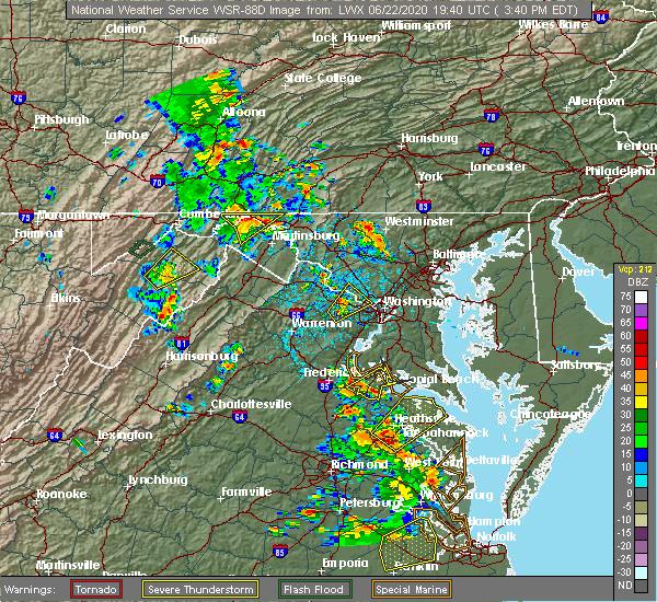 Radar Image for Severe Thunderstorms near Pecktonville, MD at 6/22/2020 3:51 PM EDT