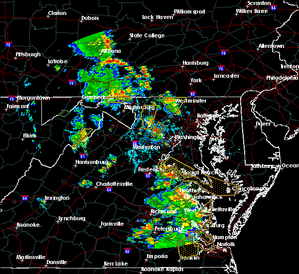 Radar Image for Severe Thunderstorms near Montgomery Village, MD at 6/22/2020 4:10 PM EDT