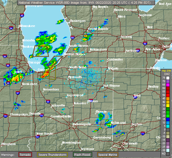 Radar Image for Severe Thunderstorms near Michigan City, IN at 6/22/2020 3:33 PM CDT