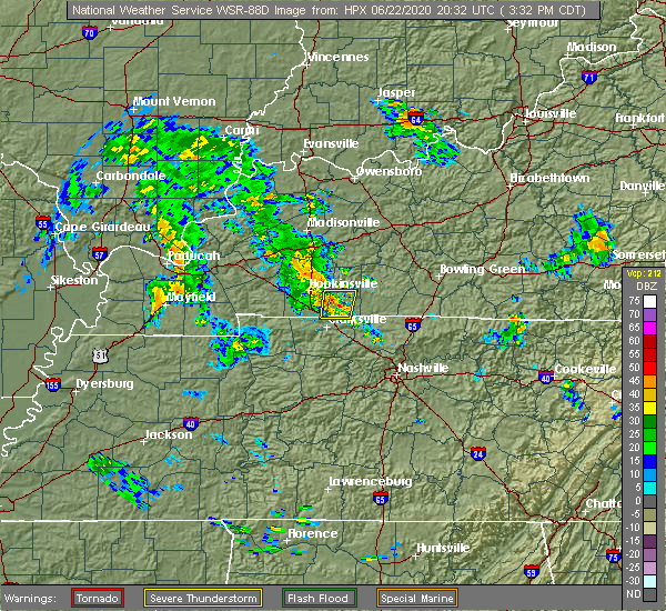 Radar Image for Severe Thunderstorms near Clarksville, TN at 6/22/2020 3:42 PM CDT