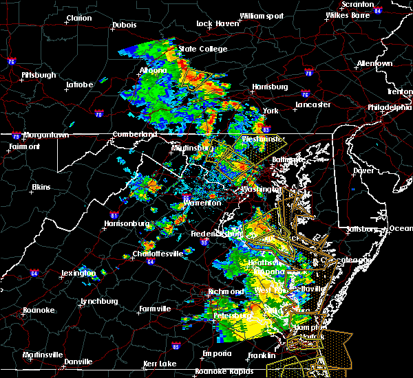 Radar Image for Severe Thunderstorms near Scaggsville, MD at 6/22/2020 5:03 PM EDT