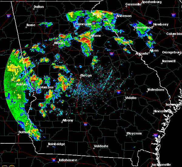 Radar Image for Severe Thunderstorms near Fort Valley, GA at 6/22/2020 5:03 PM EDT